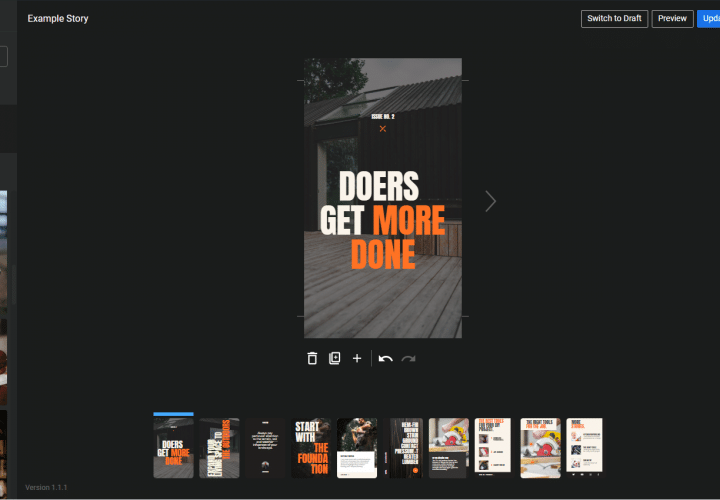 Web Stories Editor